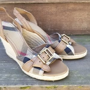 Burberry wedges sandals size 38